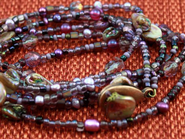 Amethyst Purple Convertable Necklace or Bracelet
