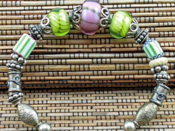 Purple & Green Bracelet