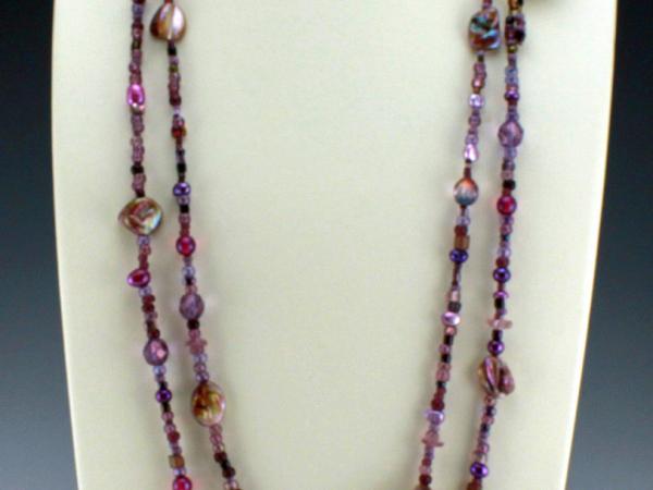 Amethyst Purple Necklace or Bracelet, 2 strands