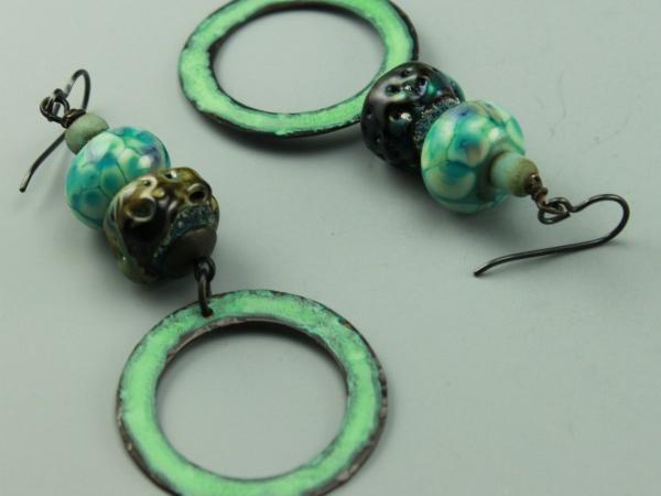 Aqua Turquoise Boho Chic Earrings