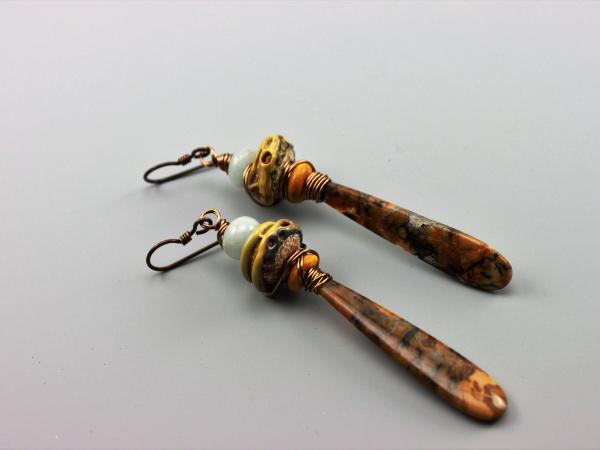 Brown & Blue Opal Earrings