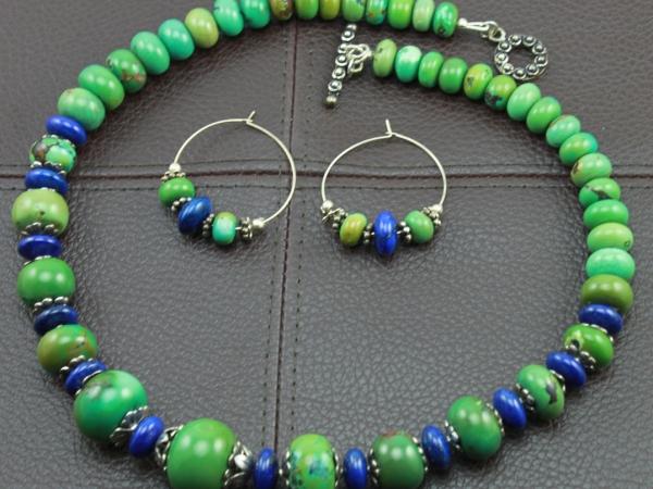 Rusic Boho Lapis Lazuli Meets Green Turquoise