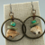 Carved Jasper Gemstone Bear Earrings