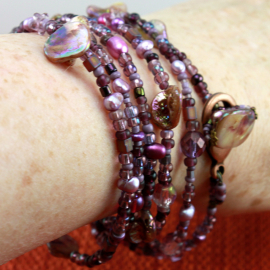 Amethyst Purple Convertable Necklace or Bracelet