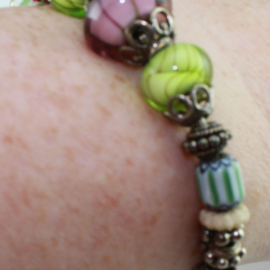 Purple & Green Bracelet