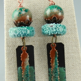 Rustic Turquoise & Copper Earrings
