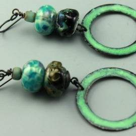 Aqua Turquoise Boho Chic Earrings