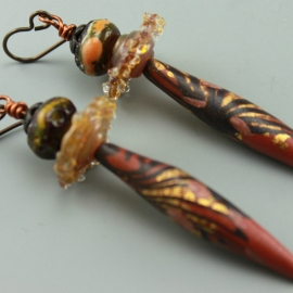 Copper Polymer Clay Drops