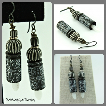 Black n White Earrings